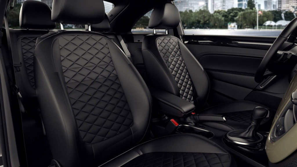 2019 VW Beetle diamond-stitched leather seats